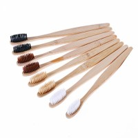 1pcs Toothbrush Natural Bamboo Handle Rainbow Whitening Soft Bristle Bamboo Toothbrush Eco-friendly Tooth Teeth Brush Oral Care