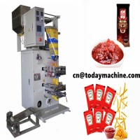 Multi-function automatic paste packaging machine/ multi lanes sachet salad sauce packaging machine