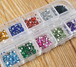 12 Colors 500Pcs 2mm Round Nails Rhinestones Wholesale Nail Jewelry ...