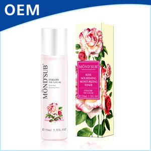 Best private label custom packaging natural skin care rose water facial toner