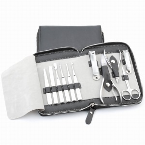 High quality full stainless steel 11pcs manicure set MS-1804 nail ...