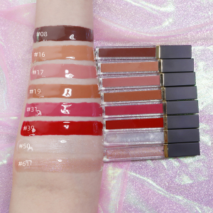 M4 2021 lip gloss pigment glitter clear nude  lipgloss private label clear lip gloss plumping shimmer lip gloss