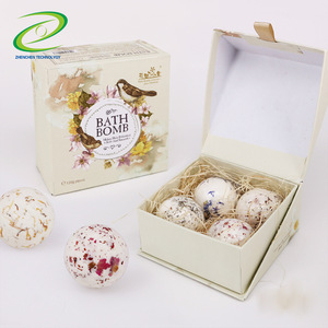 Oem Brand And Customized Gift Set Rose Bath Bomb Salt Ball And Bath Fizzies Packaging Box