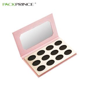 Private Label Cosmetic Custom Pink Paper Pan Cardboard Your Oem Brand Packaging Empty Eyeshadow Palette