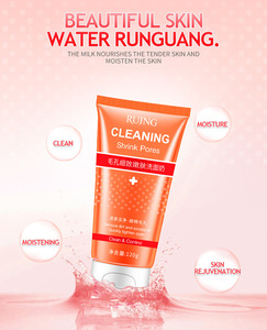 private label deep cleaning remove makeup moisturizing facial Shrink pore cleanser