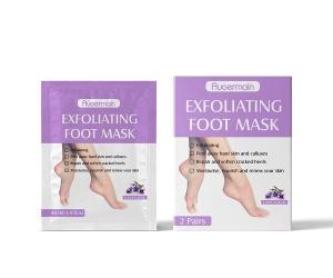Private Label Lavender Peeling Mask Feet Skin Care Socks Exfoliating Foot Mask