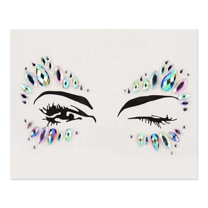 Rhinestone Mermaid Face Jewels Tattoo BODY STICKERS Crystal Tears Gem Stones Bindi Temporary Stickers