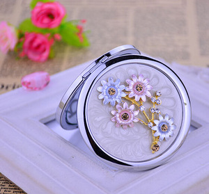 wholesale cosmetic mirror venetian compact mirror engraved pocket mirror