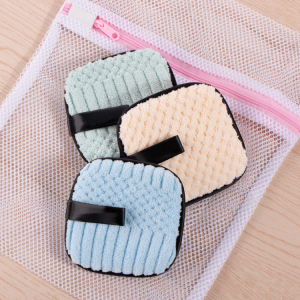 Wholesale Custom Fleece Facial Cleansing Reusable Makeup Remover Pads with Laundry Bag