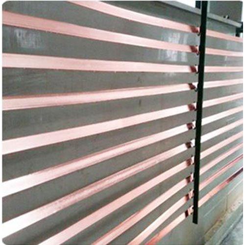 Copper plated flat steel copper clad flat steel