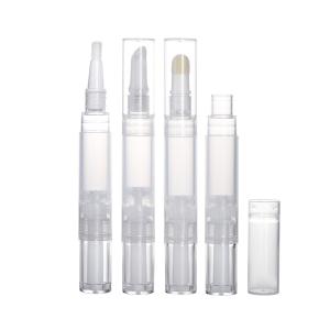 1.5ml 2ml 3ml 4ml 5ml Plastic Empty Click Lip Gloss Cosmetic Twist Teeth Whitening Pen Brush