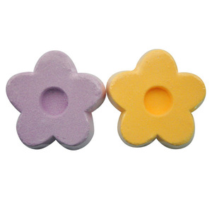 50g hot selling color bath bomb fizzer in flower shape