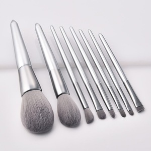 8 pcs Micro Crystal Fibre Silver Moon Light Makeup Brush OEM