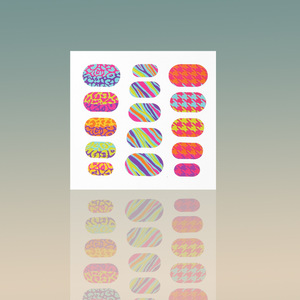 custom colorful vinyl foil nail sticker nail art design