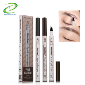Factory Wholesale high quality long lasting and waterproof 3 colors automatic 3D eyebrow pencil