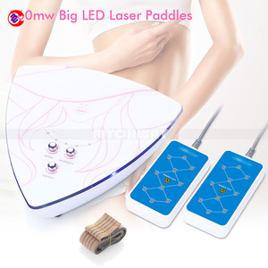 Home Use Mini 160mw 2 Pads LED Laser LLLT Slimming Weight Fat Loss Machine