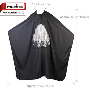 hot sale barber hair stylist hairdresser hair cutting cape pattern with aprons window