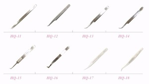 JOVISA High Quality Stainless Steel Tweezers HQ-15/16/17/18 Volume Tweezers for Eyelash Extensions