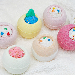 March Expo Festival custom Natural essential oil skin whitening fizzy kids bubble bath ball gift set