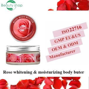 private label body butter organic whitening body butter rose butter with  Aloe Vera Extract