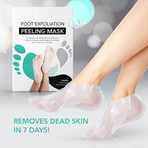 Private label Foot Peel Mask 2 Pack, Peeling Away Calluses and Dead Skin Cells, Make Your Feet Baby Soft, Exfoliating Foot Mask