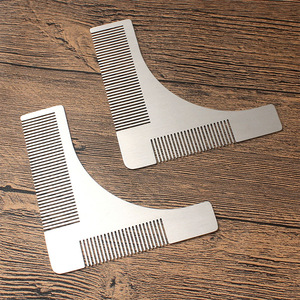 shenzhen Beard Styling Shaping Tool Private Label Stainless Steel Moustache Lice Beard Comb For Mens Grooming