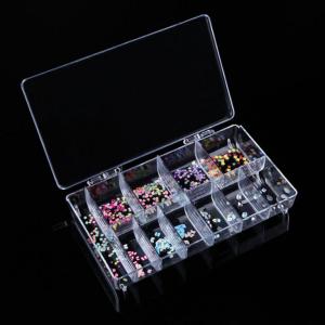 11 Grids Nail Art Box Empty Divided Transparent Case Nail Tips Storage False Nail Box
