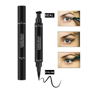 2 in one pen black ink eyeliner stamp and liquid eyeliner pen waterproof