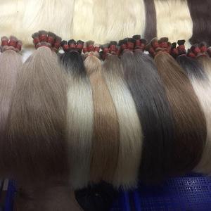 Best seller hair thin, strong, soft and silky Bulk hair in all colors ombre 100% human hair virgin hair