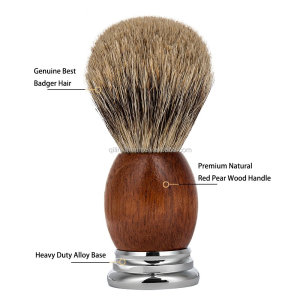 Cosmetic Products  wood handle knot shaving brush manufacturer best badger shaving brush