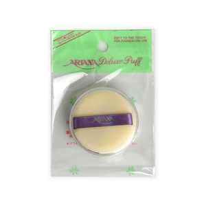 Flocking Sponge Round w/ribbon_2pcs