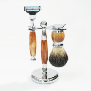 Gibbon ET-875068 High Quality Brush And Razor Stand Badger Brush Badger Shaving Mug Brush Set Razpeniko 3 pcs Kit