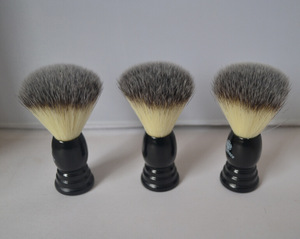 High-grade men beard brush plastic handle badger hair cheap shaving brushes