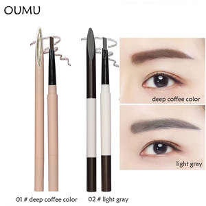 High quality Automatic 2 IN 1 Eyebrow Pencil Eye Brow Pencil with Eye Brush