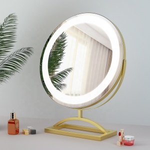 Newest styleDesktop makeup led mirror hollywood vanity lighted professional makeup mirrors with lights strips