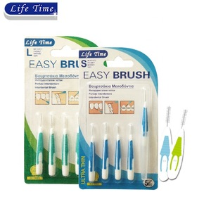 5pcs quality i shape interdental brush with 1 cover cap blister card packing I-A brushpick