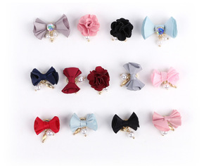 Elegant Design Colorful 3D DIY Tool Magnet Cloth Flower Nail Art Product