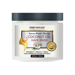 Natural & Organic Bio Coconut Oil Hair Mask Private Label Keratin Hair Treatment