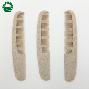 Wheat straw wholesale hotel distributes hair comb cheap and personalized disposable plastic hotel comb
