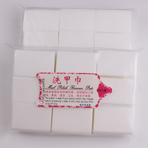 White Gel Polish Remover Cotton Pads New design Nail Polish Removing Wipes Nail Art Cleaning cotton Wipes