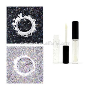 Wholesale Silver Holographic Chunky Glitter Silver Metallic Body Glitter with Glitter Fix Primer Gel for Halloween Festival