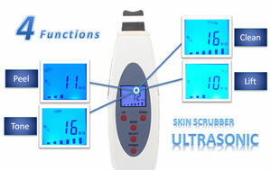 2015 Home use Portable ultrasonic face cleaner/ microcurrent ultrasonic skin scrubber/ portable sonic peeler