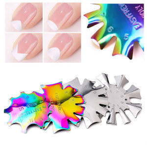 Misscheering  Acrylic Nail Cutter Tool French tip cutter C- Curve Tool Smile Line Single Tip Edge Metal trimmer