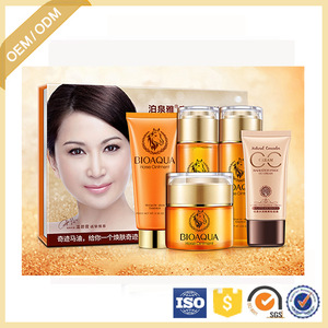 OEM/ODM BIOAQUA Horse Oil Skin Care 5 Sets For Face Care Nourishing Firming and Tender Skin care Products