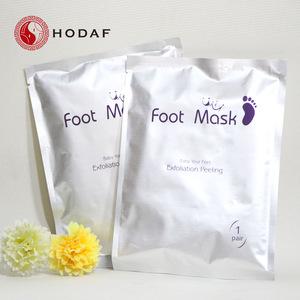 Orange foot care pack skin care products foot peel spa socks exfoliating foot mask
