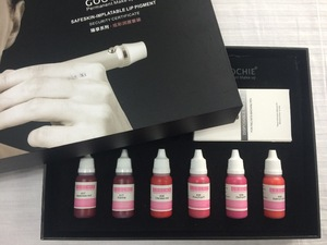 professional tattoo ink pigment kit for lip permanent makeup