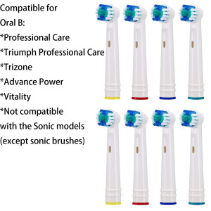 Replacement Brush Heads Compatible With Electric Toothbrush