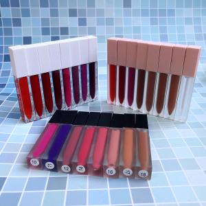 Wholesale lip stick in black pink tube vegan customized velvet liquid lipstick private label