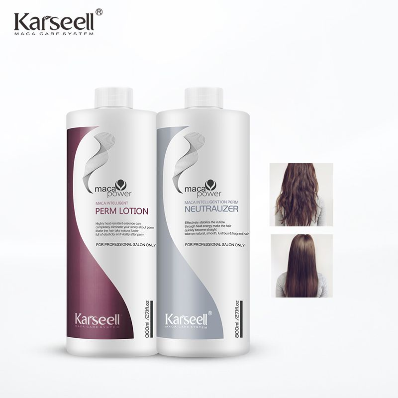 permanent natural organic hair perm with collagen lotion for salon used