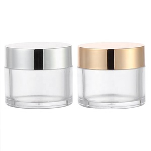 1oz 2oz PS Custom Cosmetic Small Empty Cream Container Plastic Cosmetic Jar for  Cream Cosmetic Container and Packaging